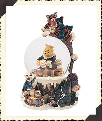 100 Acre Wood Snow Globe Boyds Bear