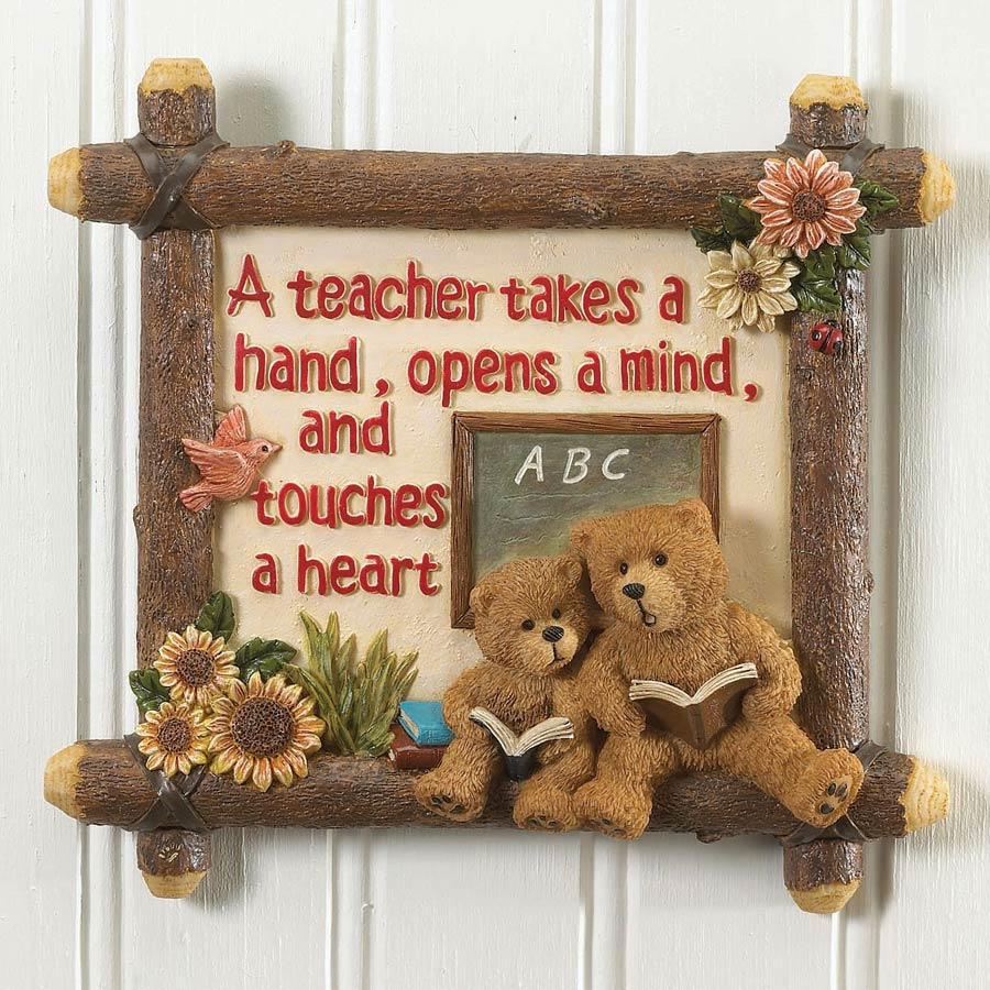 A Teacher's Hand Wall Tile Boyds Bear