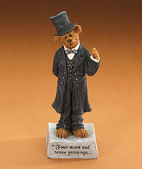 Abearham Lincoln... Four Score And Seven Years Ago Boyds Bear