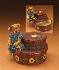 Adeline's Musical Trinket Box Boyds Bear