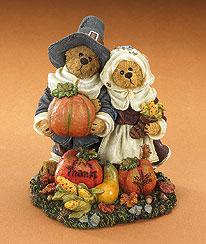 Alden & Sarah... Give Thanks Boyds Bear