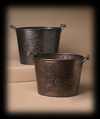 Antique Copper Finish Buckets Boyds Bear