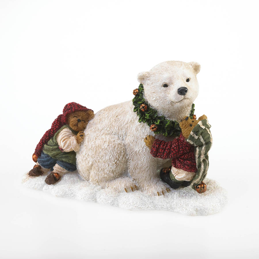 Artie The Polar Bear With Jolly And Ollie Elfington...  This Could Take A While! Boyds Bear