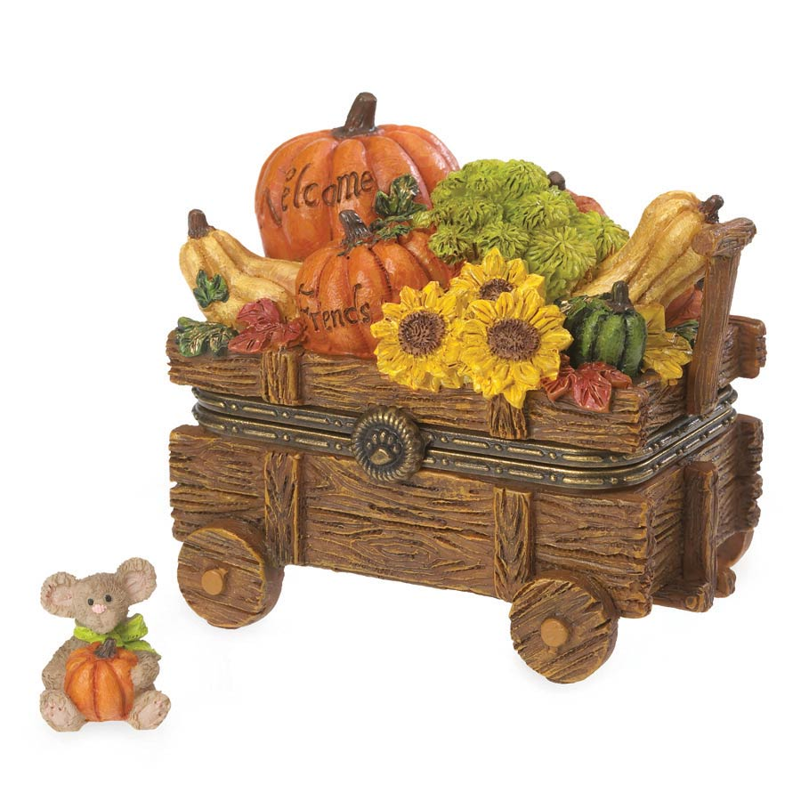 Ashton's Harvest Wagon With Pumpkin Mcnibble Boyds Bear