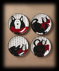 Assorted Decorative Kitty Plates Boyds Bear