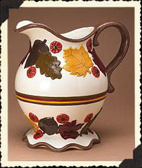 Autumn Leaves 2-qt. Pitcher Boyds Bear