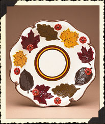 Autumn Leaves Decorative Plate Boyds Bear