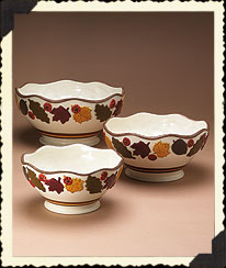 Autumn Leaves Nested Bowls Boyds Bear