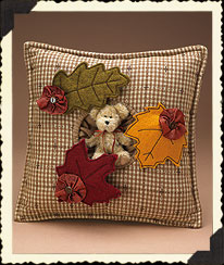 Autumn Leaves Pillow Boyds Bear