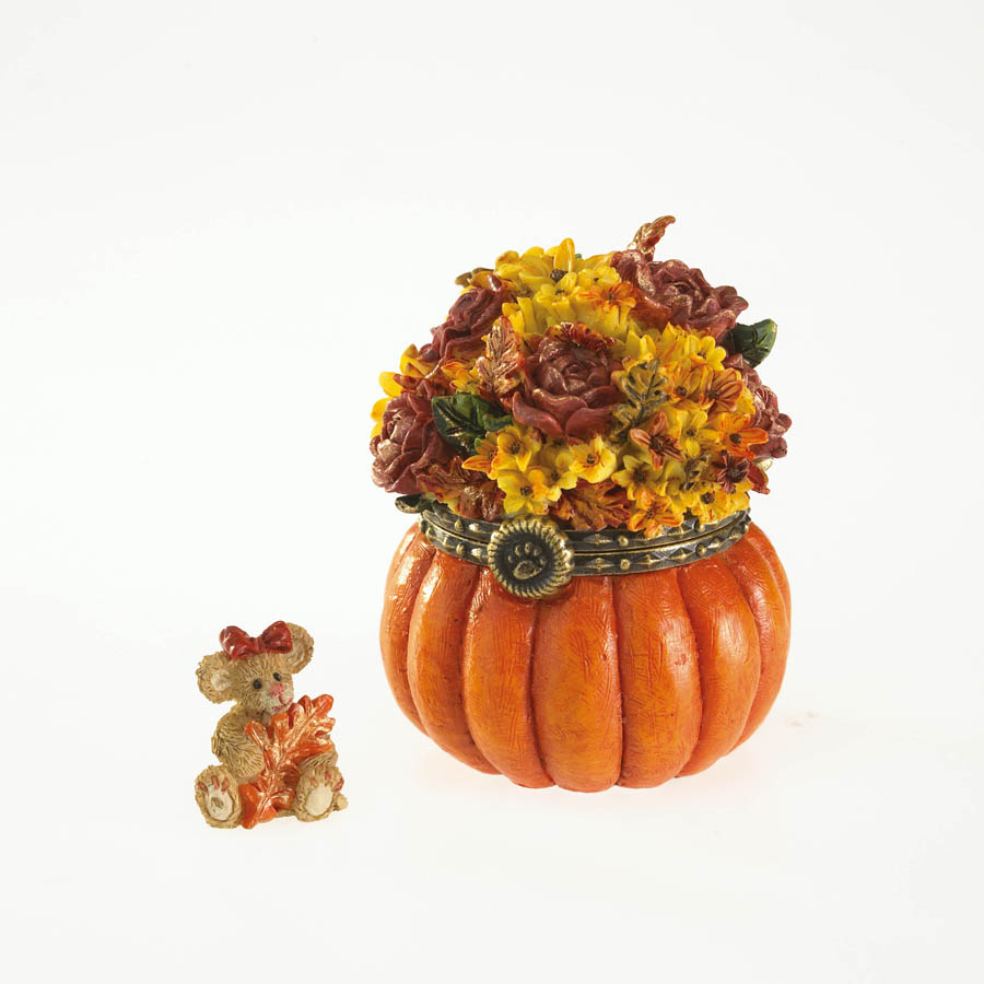 Autumn's Bountiful Treasure Box With Oakley Mcnibble Boyds Bear