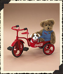 Bear, Dog And Tricycle Set Boyds Bear