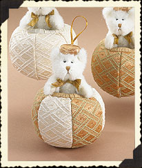Bear On Gold & White Ball Boyds Bear