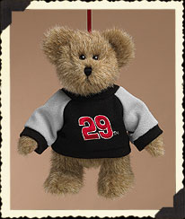 Bear Ornament W/ Black & Grey Sweatshirt Boyds Bear