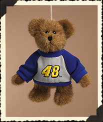 Bear Ornament W/ Blue & Grey Sweatshirt Boyds Bear