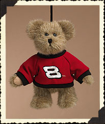 Bear Ornament W/ Red & Black Sweatshirt Boyds Bear