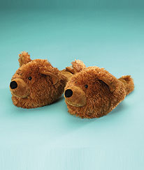 Bear Slippers (adult 7/8) Boyds Bear