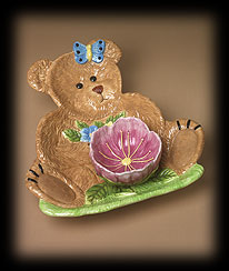 Bears In The Garden Chip And Dip Set Boyds Bear