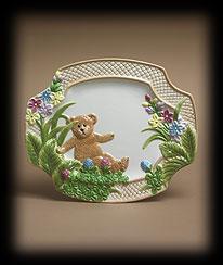 Bears In The Garden Serving Plate Boyds Bear