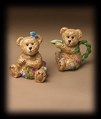 Bears In The Garden Sugar/creamer Boyds Bear