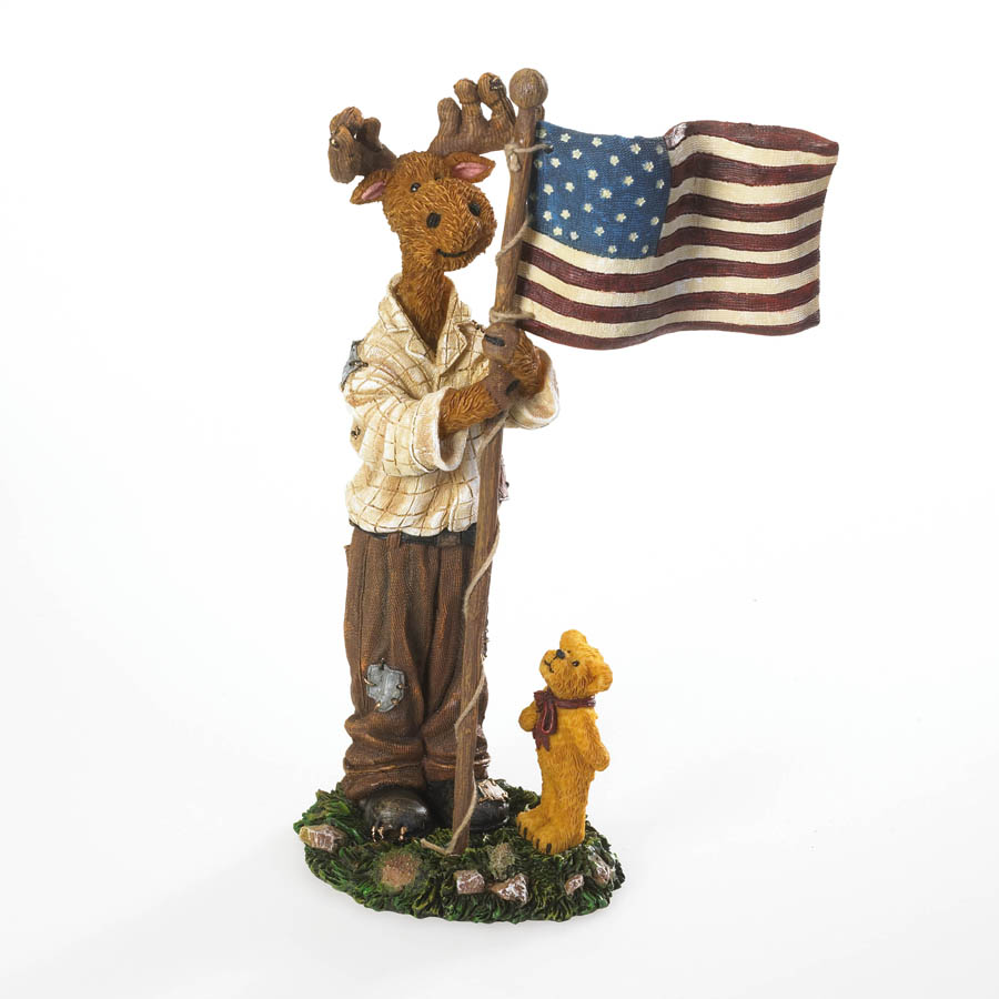 Benny B. Proud With Lil' Ted... I Pledge Allegiance... Boyds Bear