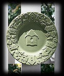 Birdhouse Decorative Plate Boyds Bear