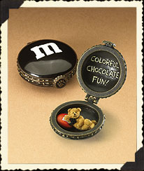 Black Boyds M&m's® Halloween Hinged Box Boyds Bear