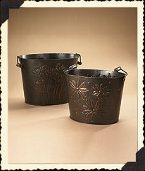 Black-eyed Susan Nested Embossed Buckets Boyds Bear