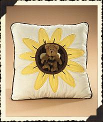 Black-eyed Susan Square Pillow Boyds Bear