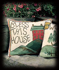 Bless This House Cushion Cover Boyds Bear