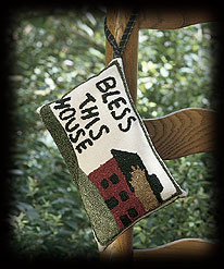 Bless This House Door Pillow Accent Boyds Bear
