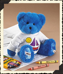 Blue Boyds Crayola® T-shirt Coloring Fun Set Boyds Bear