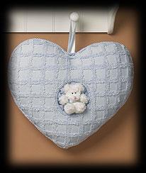 Blue Heart Pillow Boyds Bear