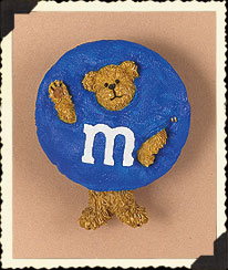 Blue M&m's® Pin Boyds Bear