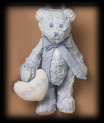 Blue Quilted Bear Boyds Bear