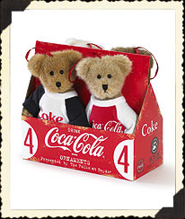 Boyds Coca-cola® Ornament Set Boyds Bear