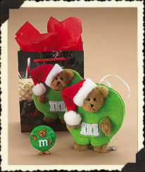 Boyds M&m's® Gift Set - Lil' Ho Ho Kringlebear Boyds Bear