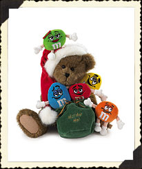Boyds Santa Bear With M&m's® Characters Boyds Bear