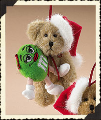Boyds Santa Bear With M&m's® Green Character Ornament Boyds Bear