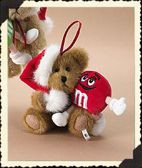 Boyds Santa Bear With M&m's® Red Character Ornament Boyds Bear