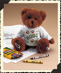 Brown Boyds Crayola® T-shirt Coloring Fun Set Boyds Bear