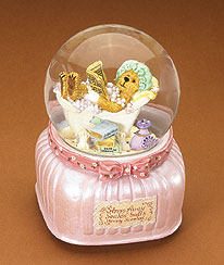 Bubbles Bearsall Musical Water Globe Boyds Bear