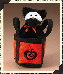 Cat In Pumpkin Bag Boyds Bear