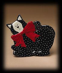 Cat-shaped Decorative Plate Boyds Bear