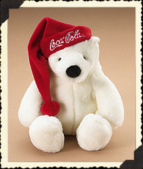 Coca-cola® Polar Bear With Santa Hat Boyds Bear
