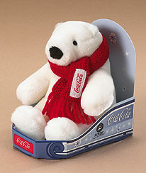 Coca-cola® Polar Bear® In Toboggan Boyds Bear