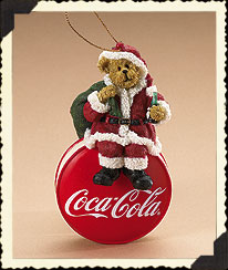 Coke ® Santa Ornament Boyds Bear