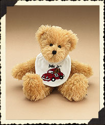 Dale Earnhardt, Jr. Baby Bib Bear Boyds Bear