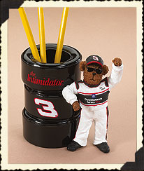 Dale Earnhardt, Sr. Pencil Holder Boyds Bear