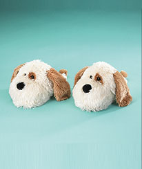Dog Slippers (adult 9/10) Boyds Bear