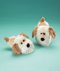 Dog Slippers (youth 12/13) Boyds Bear